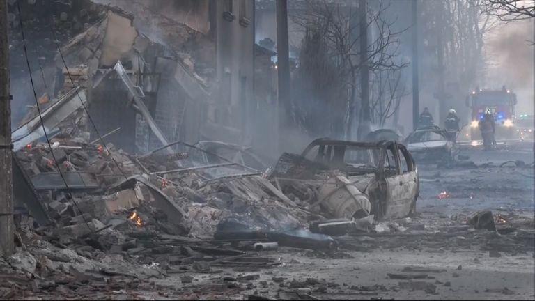 The blast caused widespread devastation