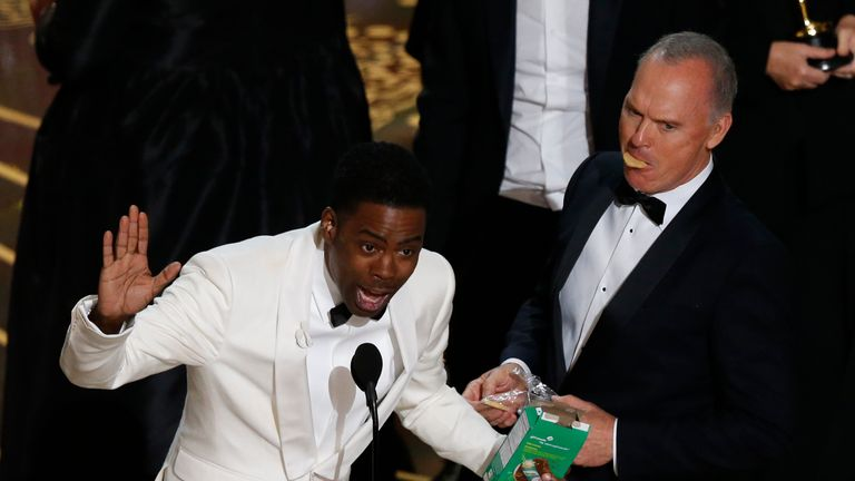 Chris Rock closes the show at the 88th Academy Awards in Hollywood
