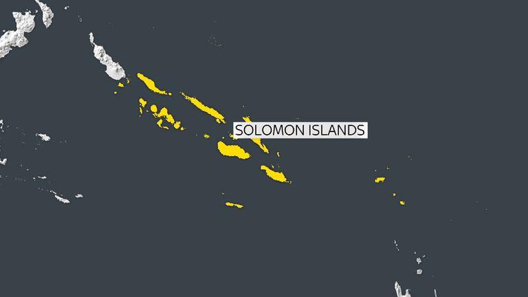 The quake struck off the coast off the Solomon Islands