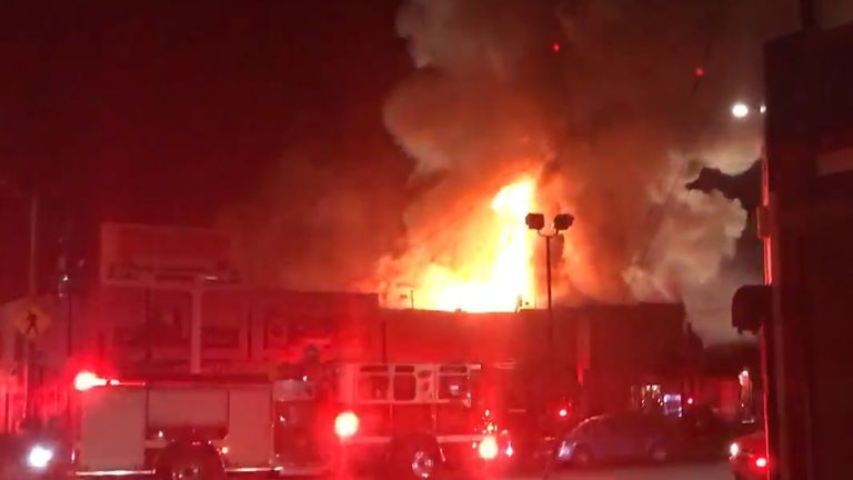 The fire broke out during a warehouse party. Pic: Oakland Firefighters