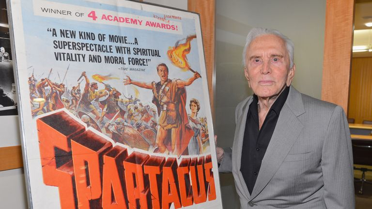 Douglas is most known for Stanley Kubrick's 1960 classic Spartacus