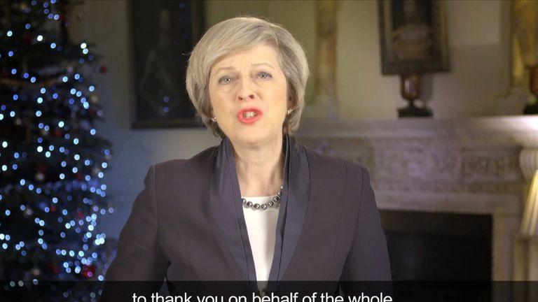 Theresa May's xmas message
