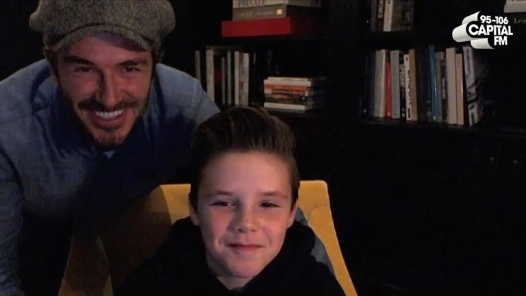 David Beckham is 'so proud' of his youngest son Cruz