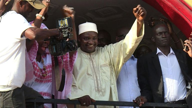 Gambia's President-elect Adama Barrow has been due to take office in January