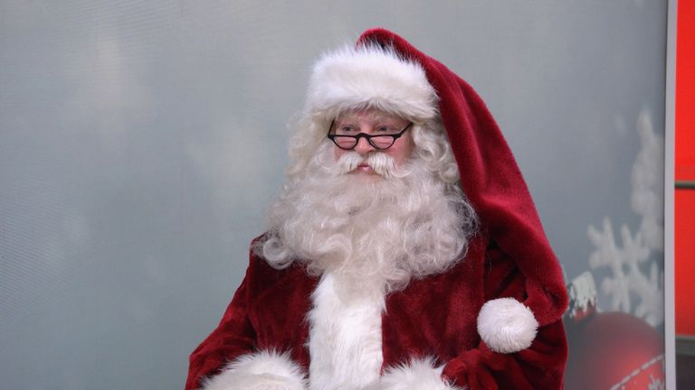 Santa is one of the 900,00 people in the UK who work at Christmas