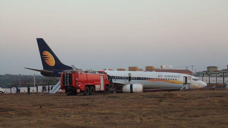 The Jet Airways plane span 360 degrees