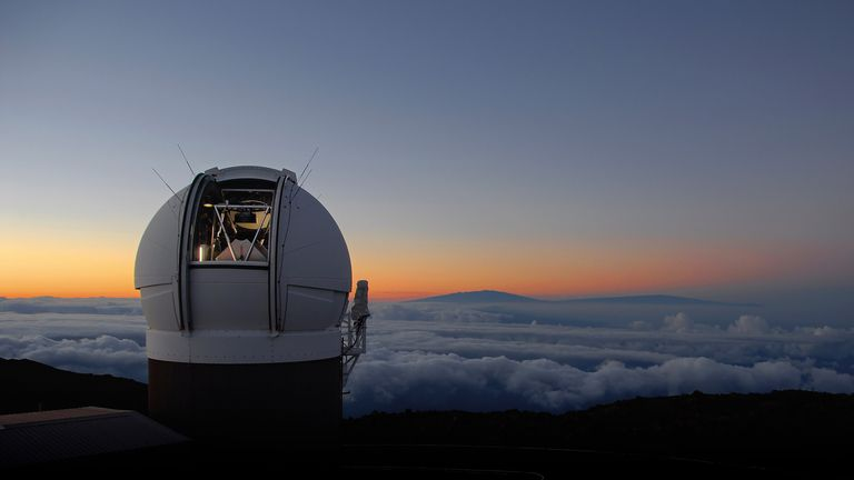 The telescope located at the summit of Haleakala volcano. Pic: R Radowski