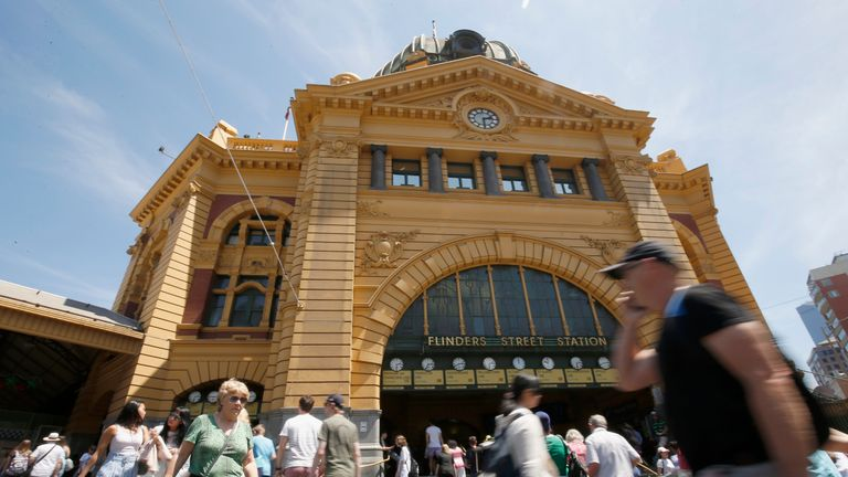 Flinders Street Station was also thought to be a target
