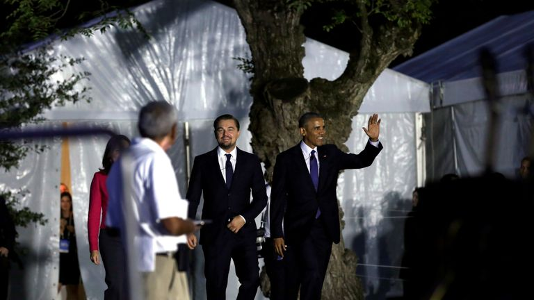 DiVCaprio had previously met President Obama on the same issue at South by South Lawn