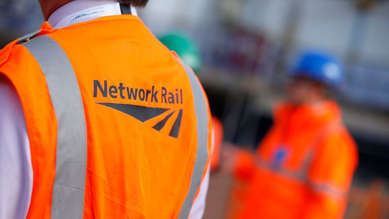 Workers wearing Network Rail vests. File picture