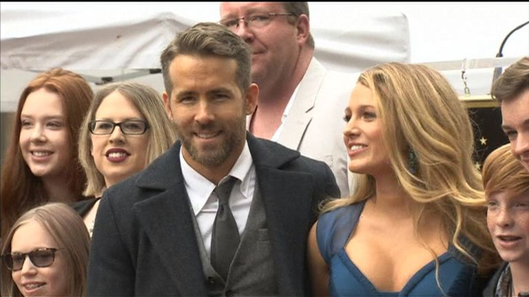 Ryan Reynolds gets a star on Hollywood's Walk of Fame