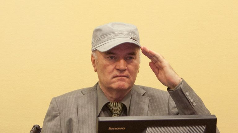 Ratko Mladic appears at the International Criminal Tribunal for the Former Yugoslavia