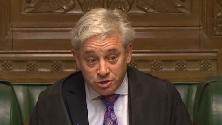 An emotional Commons speaker John Bercow after Independent MP Michelle Thomson moved colleagues to tears WHEN revealing she was raped at 14