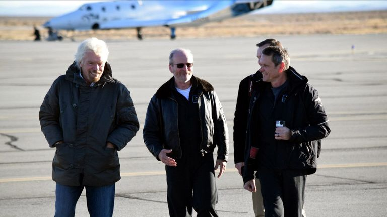 Sir Richard Branson was there to see the test