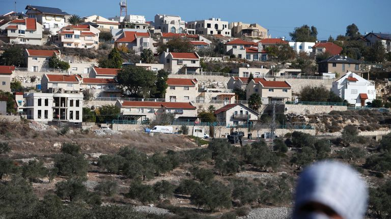 An Israeli settlement near Nablus in the West Bank