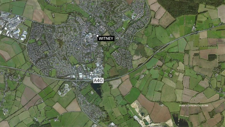 The crash happened on the A40 near Witney, Oxfordshire