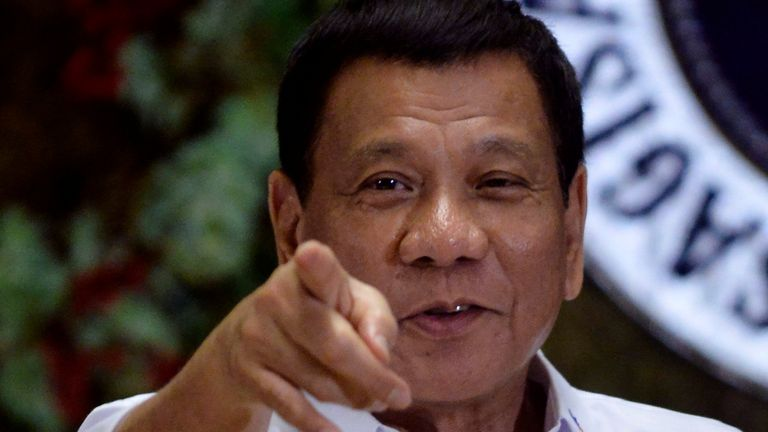 President Duterte is waging a war against drugs in  the Philippines