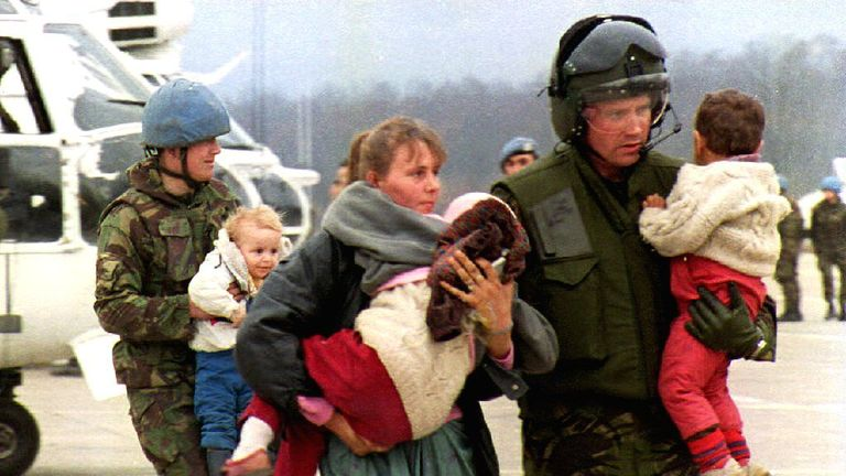 Scenes from the siege of Srebrenica in 1993