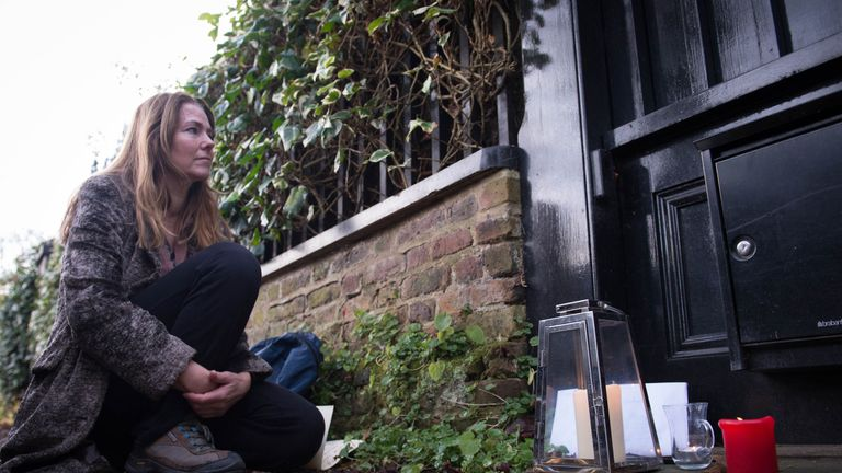 A fan pays silent tribute to George Michael outside his London home