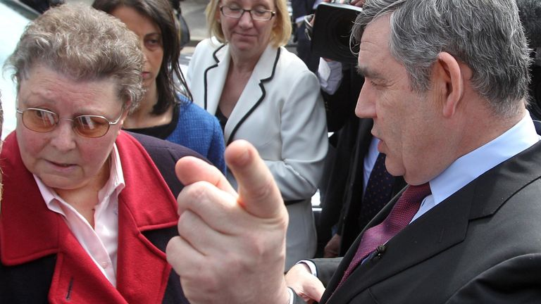Gillian Duffy was called a 'bigoted woman' by Gordon Brown over immigration in 2010