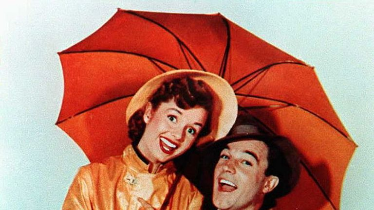 Gene Kelly and Debbie Reynolds starred in Singin' In The Rain