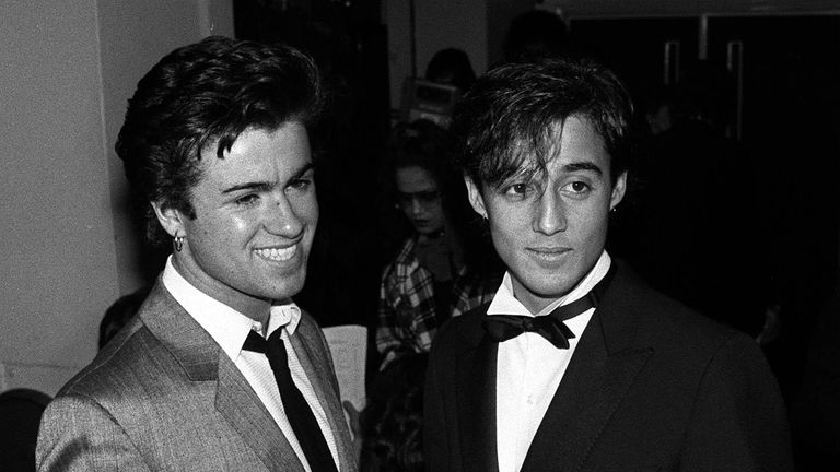 Wham's George Michael (left) and Andrew Ridgeley in 1984