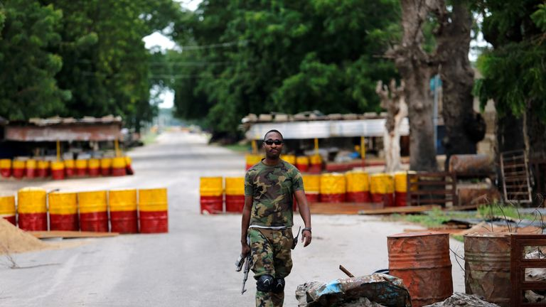 A soldier in Borno state as the area is liberated from Boko Haram's grip