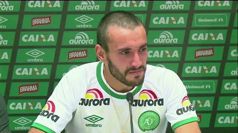 Chapecoense player Alan Ruschel