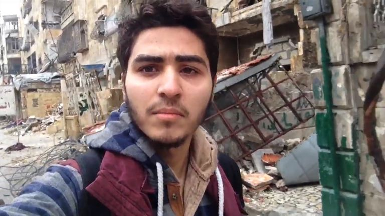 Mojahed Abu Joud, an activist living in eastern Aleppo