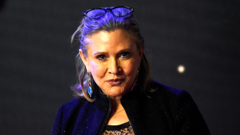 Carrie Fisher had been in the UK on a book tour