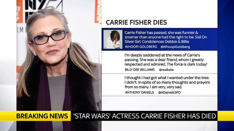 Carrie Fisher Tribute Tweets