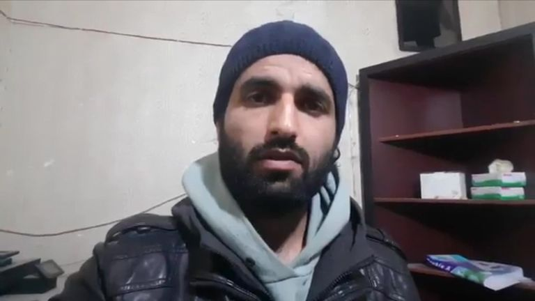 Ismail Alabdullah, a member of the White Helmets in Aleppo