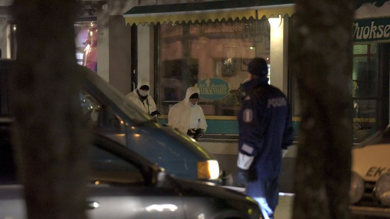 The three women were shot dead outside a restaurant