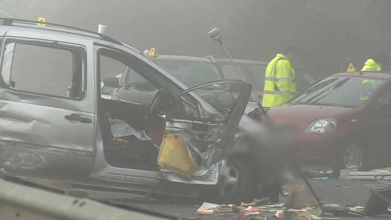 Multi-car pile up on A40 leaves one dead