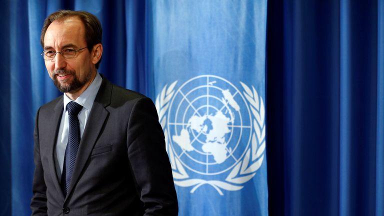 The UN's Zeid Ra'ad Al Hussein called for the probe