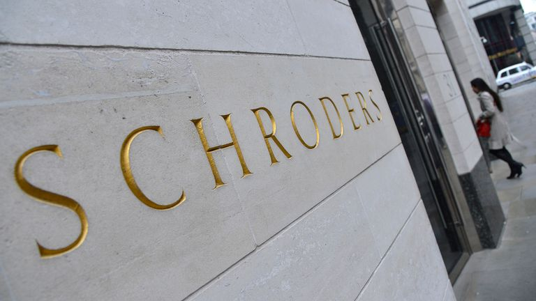 Schroders logo in City of London