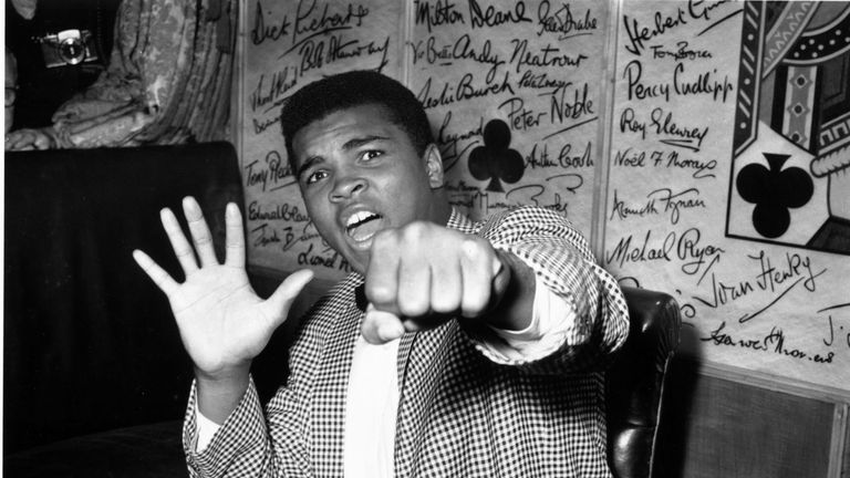 Muhammad Ali in May 1963 - the year before he changed his name from Cassius Clay