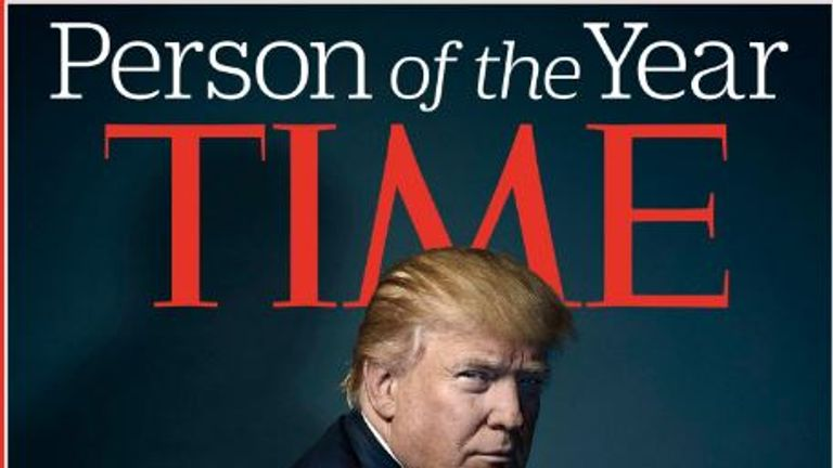 Donald Trump is elected Time magazine's Person Of The Year