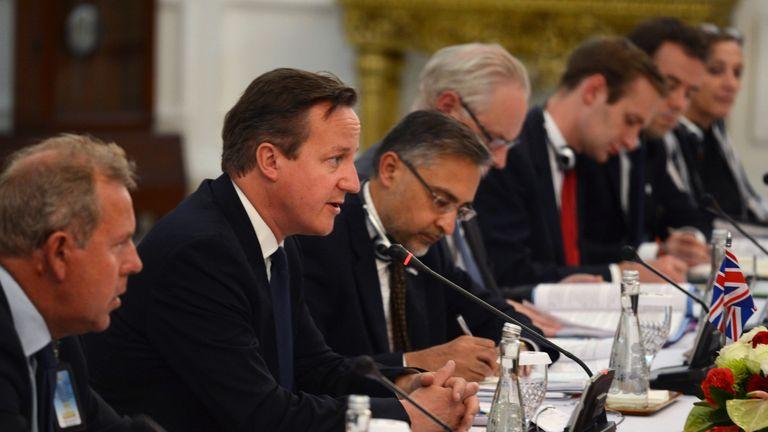 Sir Kim Darroch and David Cameron