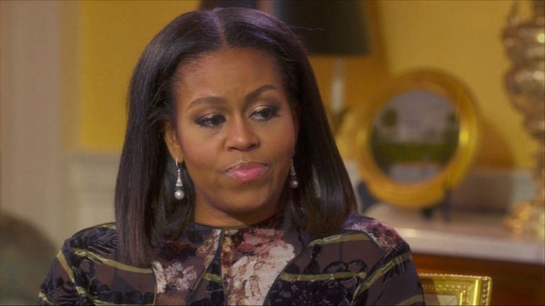 Michelle Obama talks to Oprah Winfrey