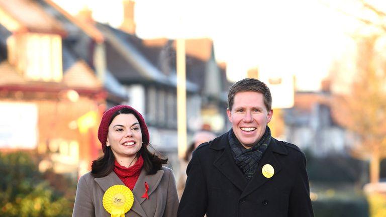 Sarah Olney and husband Ben