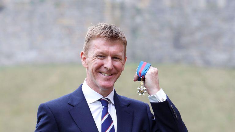 Major Tim Peake at Windsor Castle