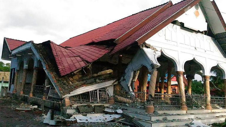 Strong earthquake strikes off Aceh province on Indonesia's Sumatra island