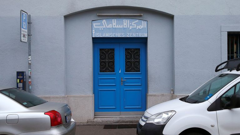 The entrance of the Islamic centre, which was attacked by a gunman, is seen in central Zurich, Switzerland December 20, 2016