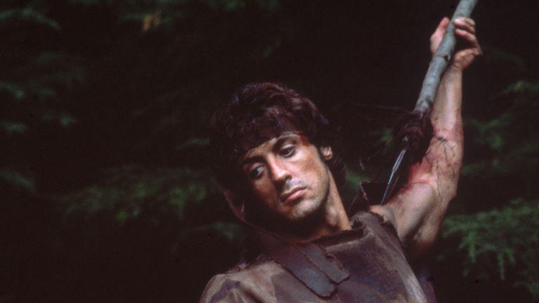 Stallone as Rambo in around 1980