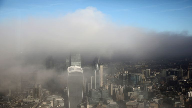 Fog in central London