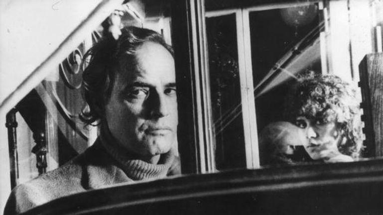 Marlon Brando with Marie Schneider in 'Last Tango In Paris'.