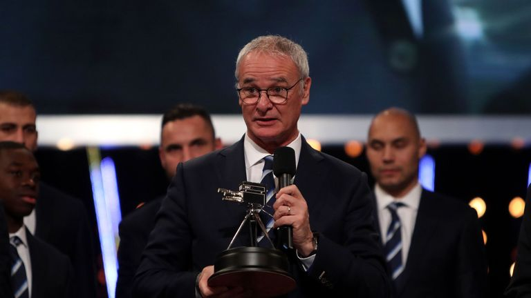 Claudio Ranieri wins the BBC Sports Personality award for top manager