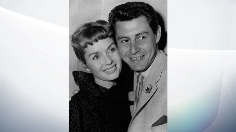 Reynolds married Eddie Fisher in 1955