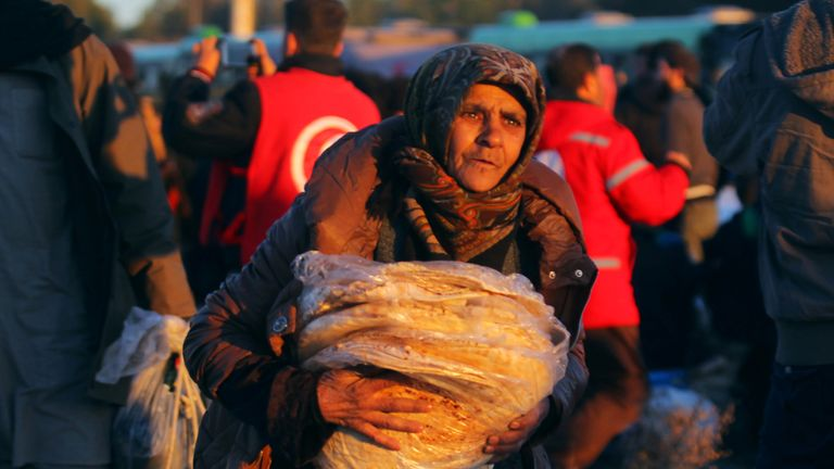 Hundreds of civilians have been leaving the east of Aleppo